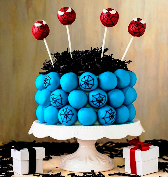 "Cake ball ""cake,"" perfect for birthdays!"