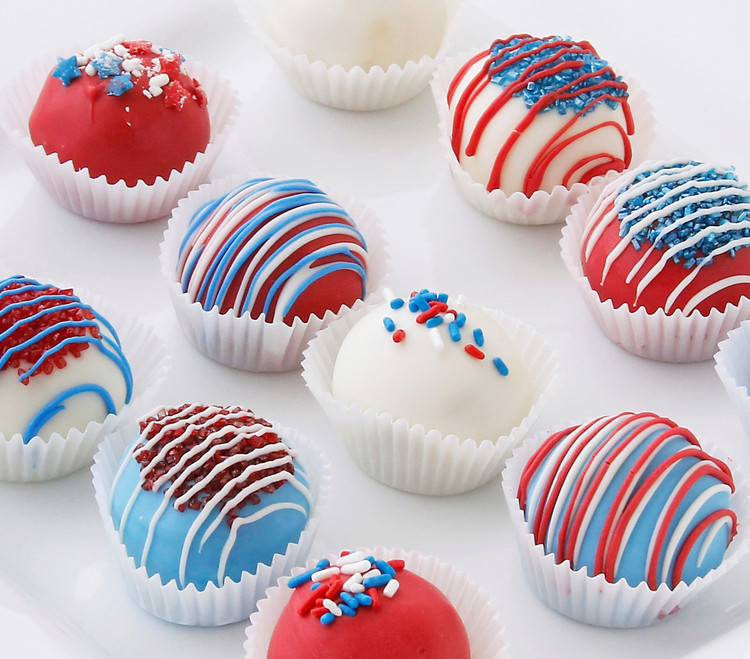 Fourth of July cake balls