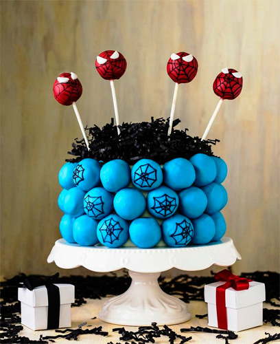 spiderman cake ball cake