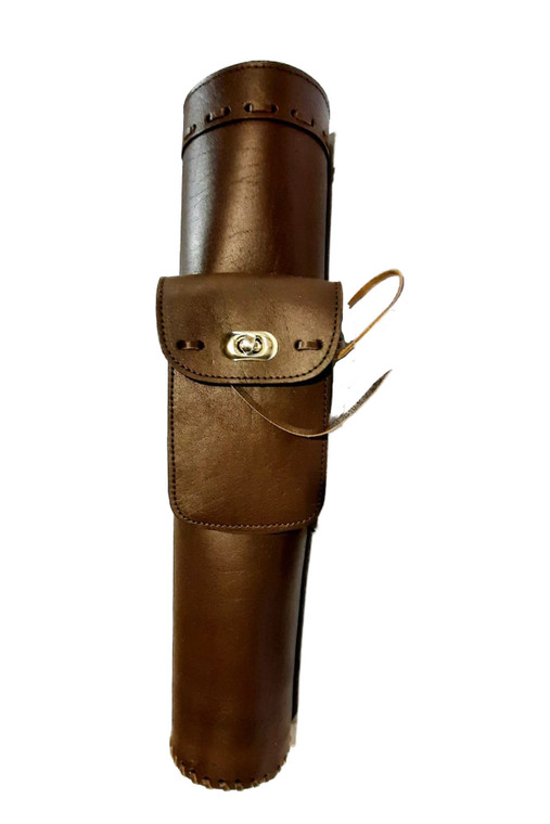 Acorp Leather Hand Laced Back Quiver - Archery Source canada