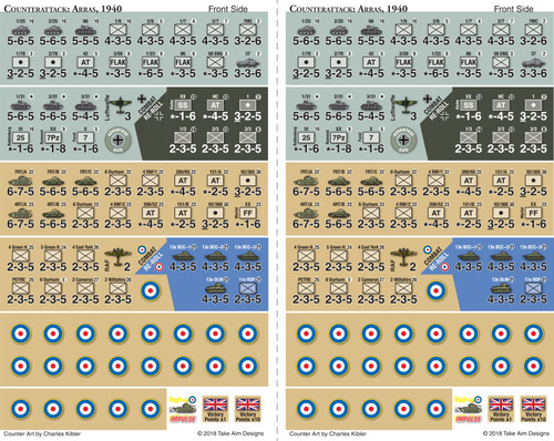 Counter Attack: The Battle of Arras, 1940 Counters