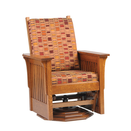 Amish Handcrafted 1300 Mission Swivel Glider