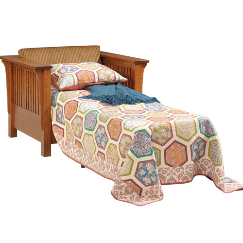 Amish Handcrafted 1800 Mission Sleeper Chair