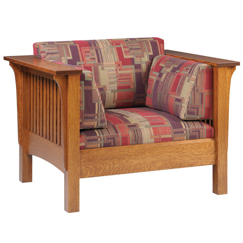 Amish Handcrafted 1875 Highback Mission Chair