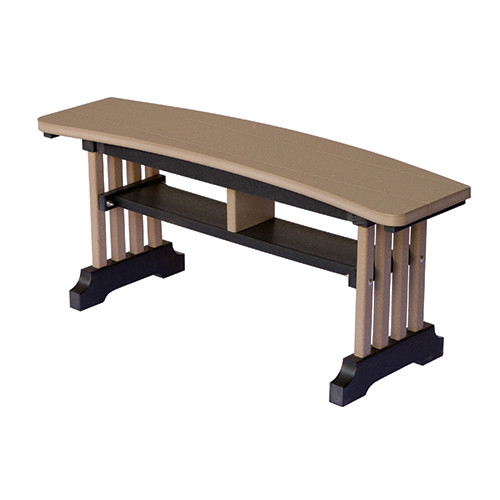 Garden Mission Curved Bench