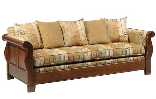 Hardwood Sleigh Sofa | Southern Outdoor Living in Kentucky