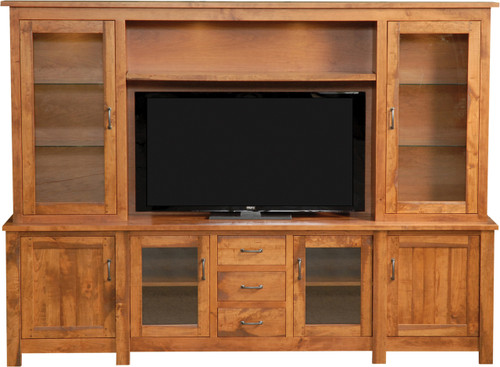Amish Handcrafted Hilton Style Entertainment Centers
