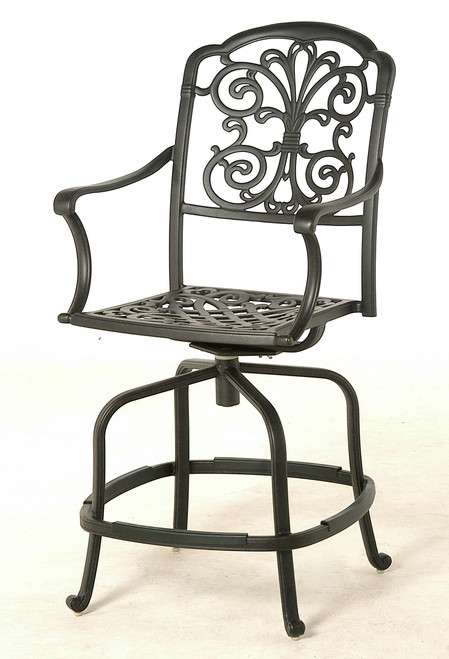 Hanamint Bella Swivel Counter Height Stool | Patio Furniture