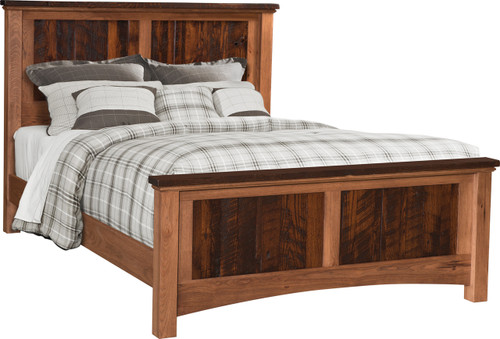 Lewiston bed square head and foot board
