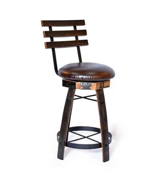 swivel stool with cushion seat