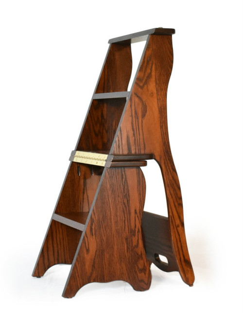 Library Chair as a Ladder