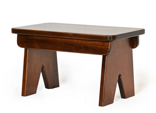 Amish Handcrafted Little Bench shown in Brown Maple