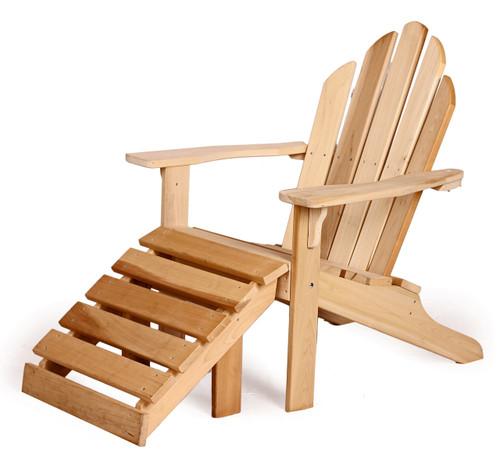 Poplar Adirondack Chair with footrest