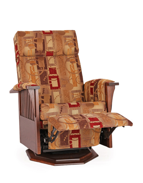 Swivel Recliner With Octagon Base And Armcovers