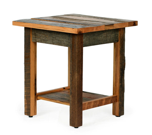 Silverton End Table In Reclaimed Barn Wood