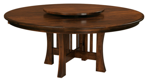 Arts and Crafts Round Table With Lazy Susan