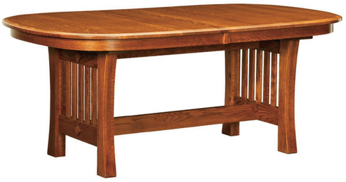 Arts And Crafts Trestle Dining Table