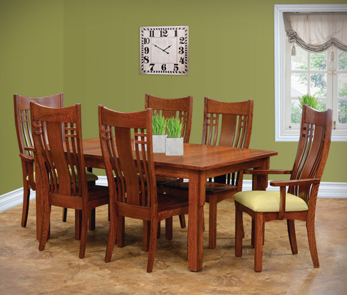 Amish Handcrafted Andalusian Premium Dining Set