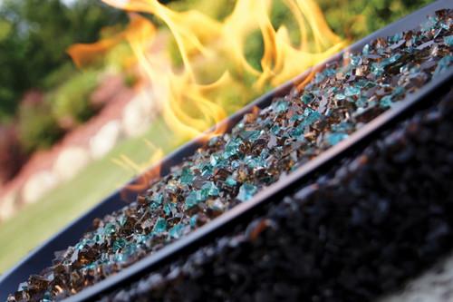 Breeze fire pit close up