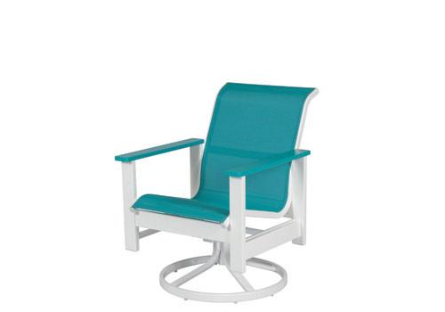 Kingston Sling Swivel Dining Chair