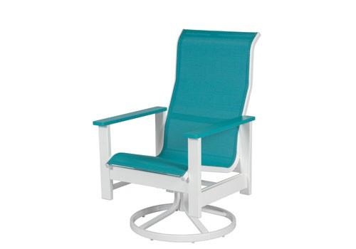 Kingston Sling  High Back Swivel Dining Chair