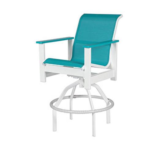 Kingston Sling Swivel Bar Chair
