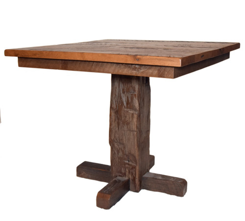 Amish Handcrafted Barnwood Counter Dining Table