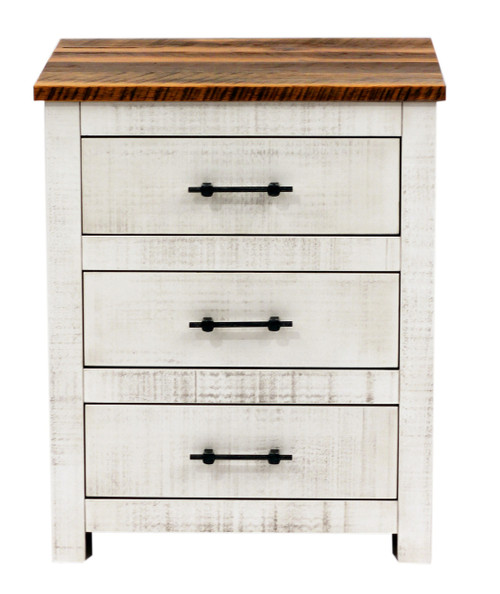 Amish Handcrafted Lincoln Barnwood Nightstand