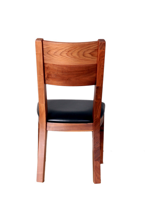 Amish Handcrafted Live Edge Walnut Side Chair