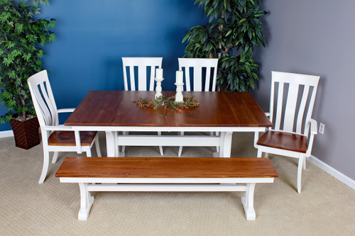 Amish Built | Franklin Dining Collection with McZena Chairs and bench