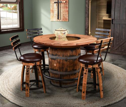 Amish Built | Rustic Plain Barrel Dining Collection