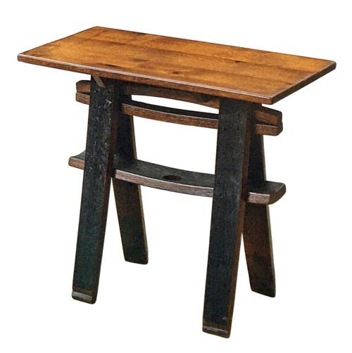 Rustic Barrel Console Sofa Table