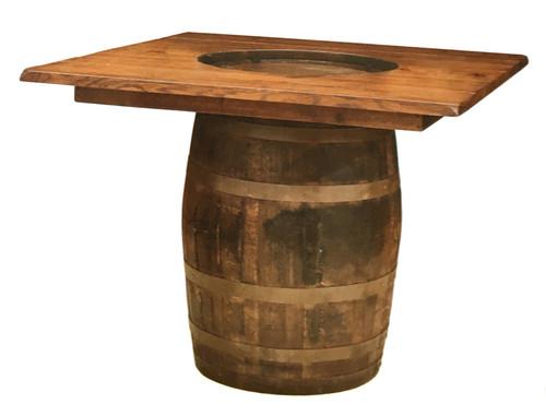 # 153  Plain Barrel Table (Square Top)