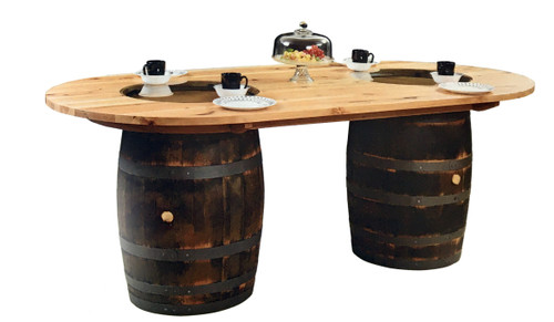 # 150 Double Barrel Table