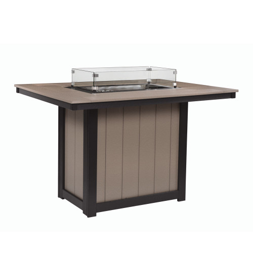 "Donoma 42"" x 54"" Rectangular Counter Fire Table 50,000 BTUS"