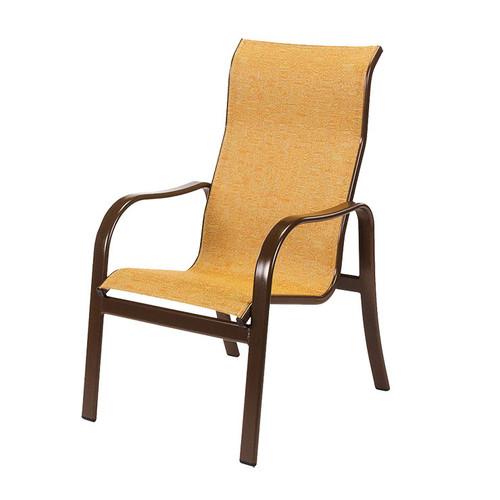 Sonata Sling High Back Dining Arm Chair