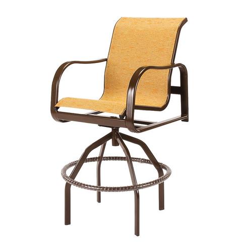 Sonata Sling Swivel Bar Chair