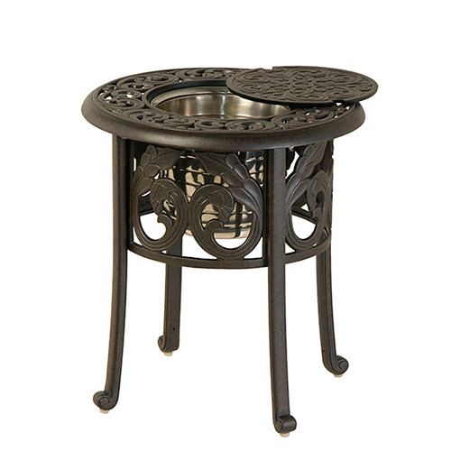 """Hanamint Chateau 20"""" Round Ice Bucket Side Table"""