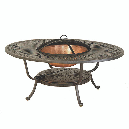 Hanamint Mayfair Oval Fire Pit Table