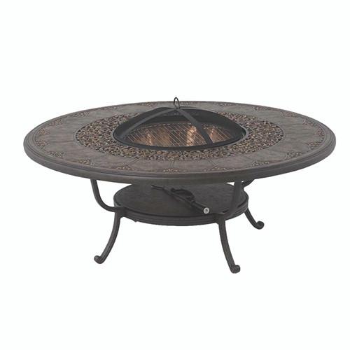 """Hanamint St Moritz 54"""" Round Fire Pit Table"""