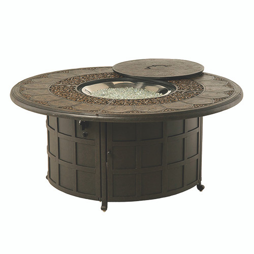"Hanamint St Moritz 54"" Round Enclosed Fire Pit"