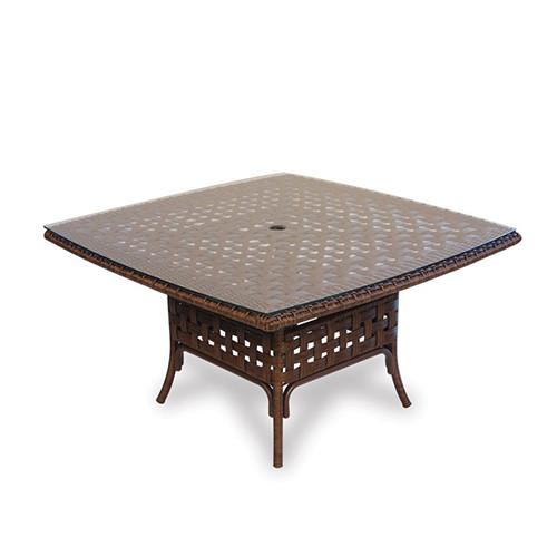 "LLoyd Flanders Haven 42"" Square Umbrella Conversation Table"