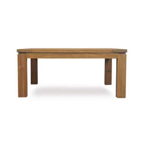 LLoyd Flanders | Antiqued Teak Parsons Cocktail Table