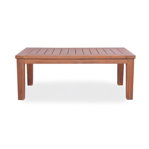 LLoyd Flanders Antiqued Teak Rectangular Cocktail Table