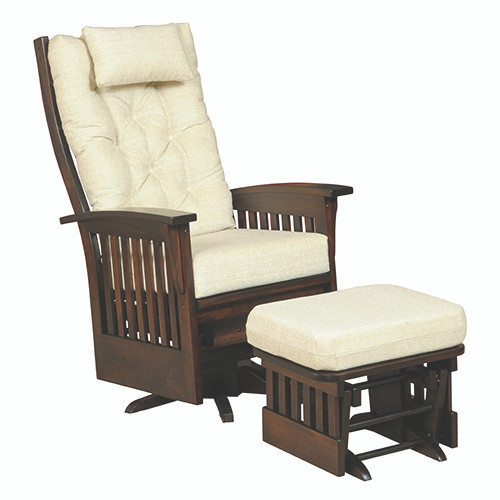 Amish Handcrafted Deluxe Mission Swivel Glider
