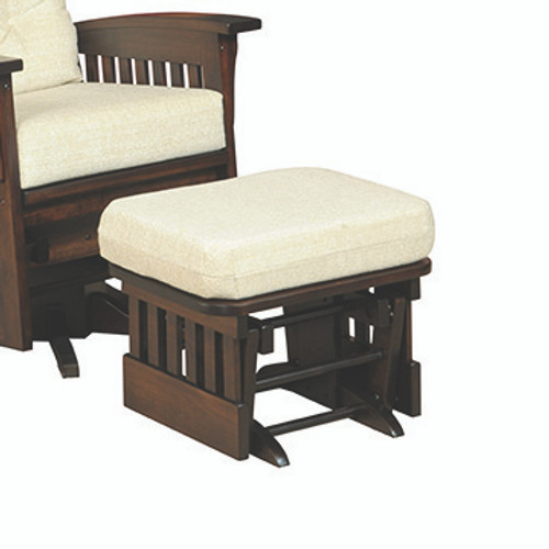 Amish Handcrafted Deluxe Mission Glider Ottoman