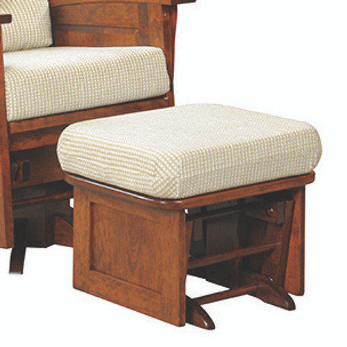 Amish Handcrafted Deluxe Panel Mission Glider Ottoman