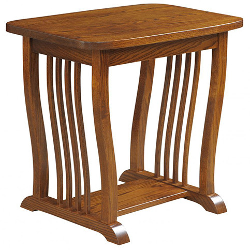 Amish Handcrafted 70 Mission End Table