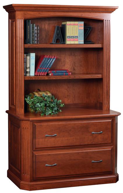 Amish Handcrafted Buckingham Lateral File & Bookshelf