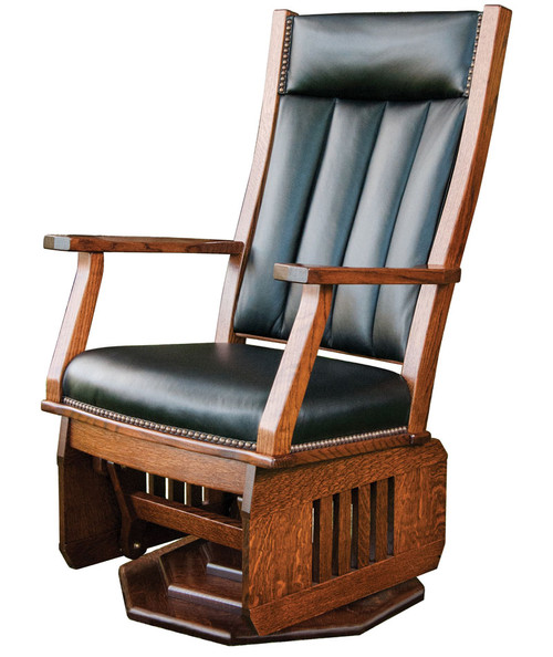 Amish Handcrafted Mission Swivel Glider